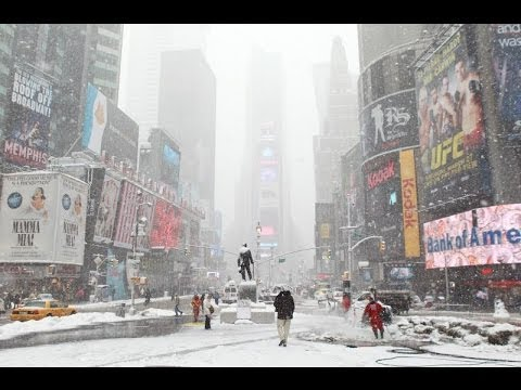 Time Lapse Ride Through Snow Covered Streets Of New York