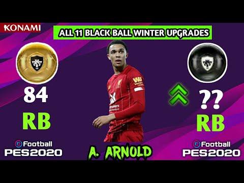 PES 2020 • ALL 11 BLACK BALL WINTER UPGRADE//Ft Lewandoski, Werner Arnold...