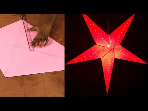 Simple DIY paper star making for Christmas Decoration | DIY Craft Ideas