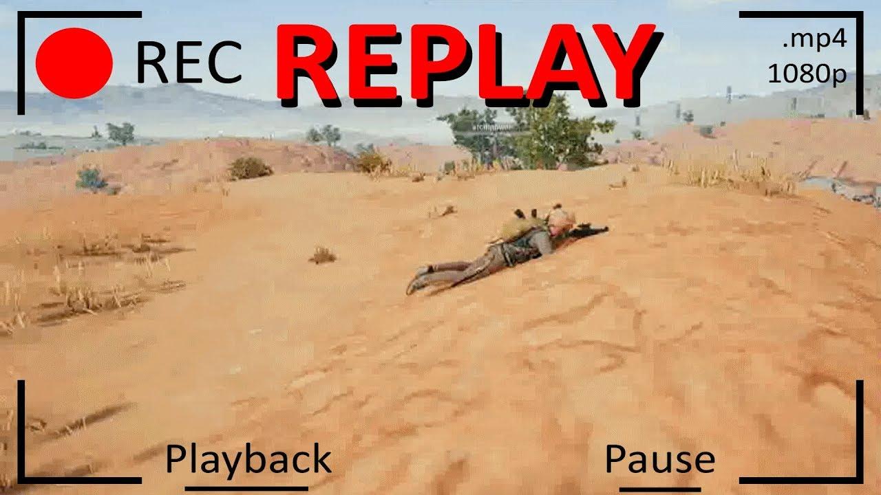 cara replay pubg mobile