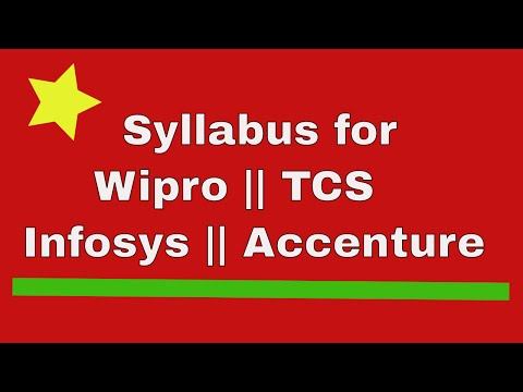 Syllabus For Wipro, TCS, Infosys & Accenture How to prepare for a JOB Interview for fresher in hindi