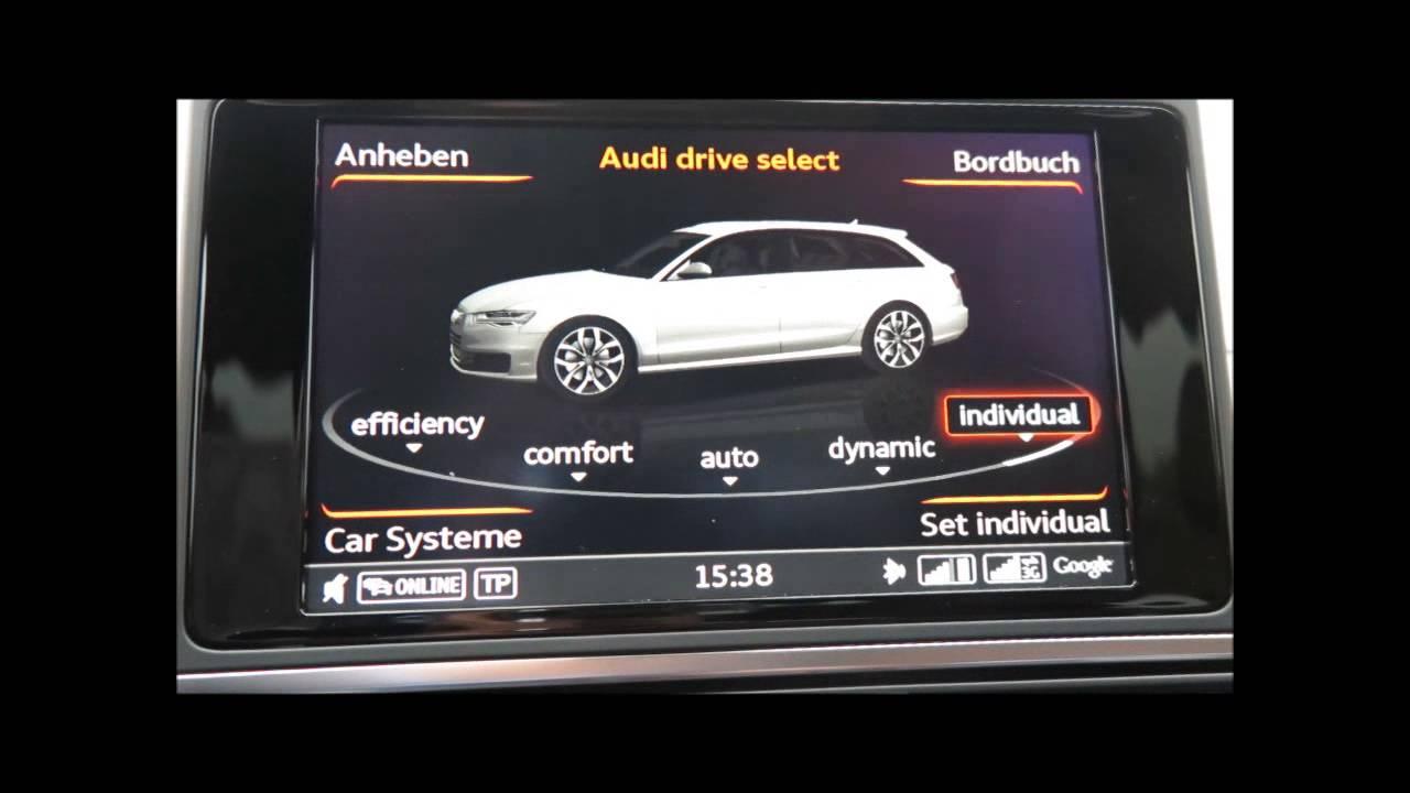 Audi A6 Fahrzeugeinstellungen Facelift 2014 Youtube