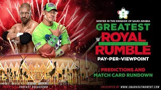 WWE GREATEST ROYAL RUMBLE 2018 PPV Event Match Card and Predictions Rundown