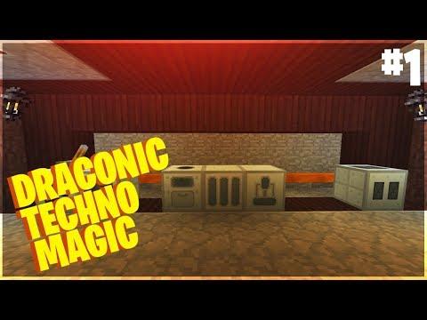 Draconic Techno Magic - #1 - Механизмы из IC2, Печка из Tinker (Майнкрафт с Модами 1.7.10)