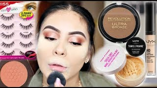 DRUGSTORE MAKEUP TUTORIAL FOR BEGINNERS USING AFFORDABLE MAKEUP BRUSHES: TIPS & TRICKS | JuicyJas
