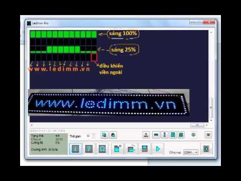 Mach led vay cua Ledimm pro, hướng dẫn sử dụng