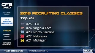 2018 College Football Recruiting Classes Top 25, Winners/Losers Featuring Urban, Saban, & Harbaugh