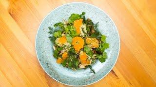 Новогодний салат с мандаринами от Василия Емельяненко