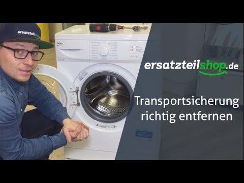 Transportsicherung Waschmaschine entfernen - so geht es!