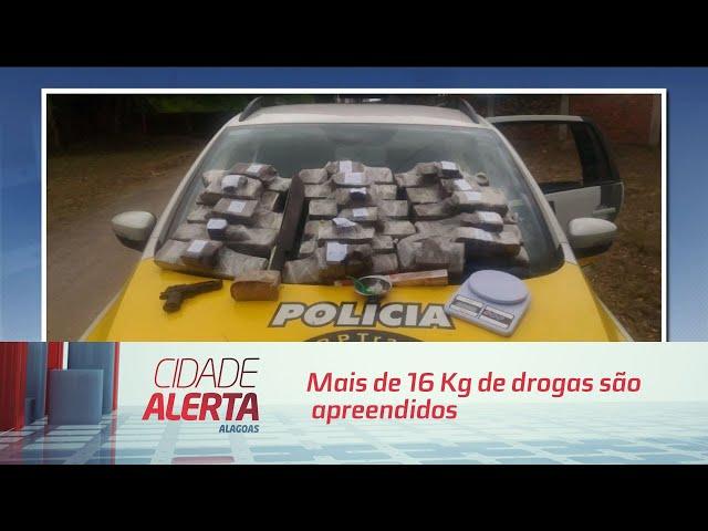 Mais de 16 Kg de drogas são apreendidos numa casa em Satuba