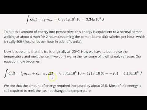 3.4 Solving Energy Problems Involving Phase Changes and Temperature ...