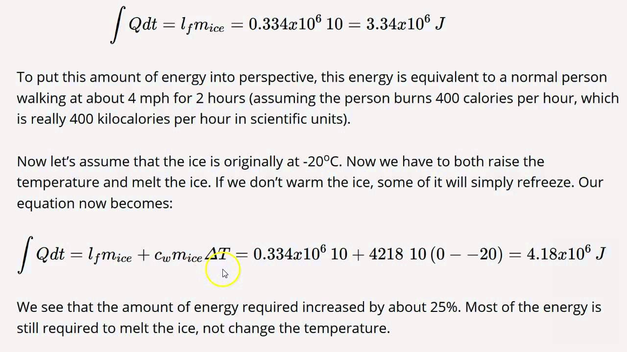 3 4 Solving Energy Problems Involving Phase Changes and