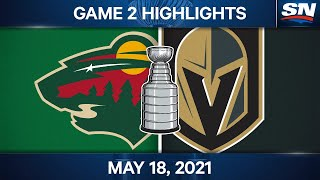 NHL Game Highlights   Wild vs. Golden Knights, Game 2 – May 18, 2021
