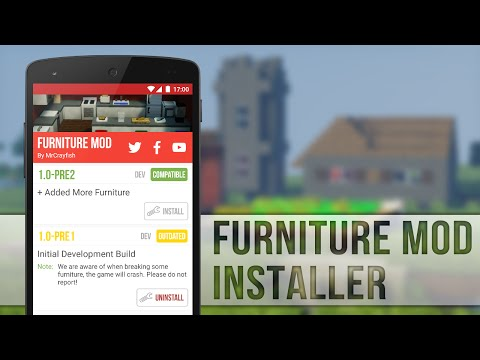 how-to-install-furniture-mod-for-mcpe-0.13.0!
