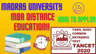 TANCET 2020💥 🔥🍀 🌈 |tancet 2020 updates| tancet mba | how to apply for mba distance education