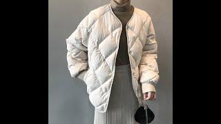 Зимняя куртка 2020 женская повседневная белая стеганая пуховик с v образным вырезом в корейском