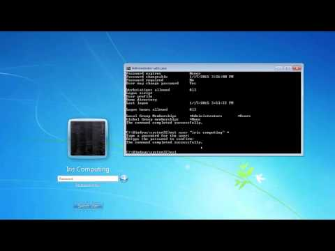 How to: Remove Windows accounts or change pc administrator passwords using command prompt.