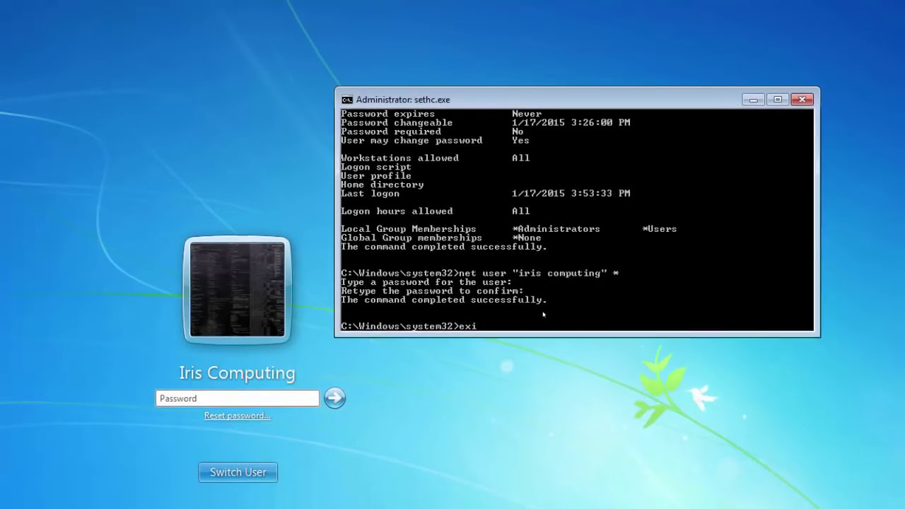 Remove Windows Accounts Or Change Pc Administrator Passwords Using Command  Prompt  Windows 7,8 & 10  Eth0 11:29 HD