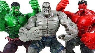 Marvel super transform Gray Hulk vs Red Hulk vs Hulk: Spider Man, Iron Man appeared! - DuDuPopTOY
