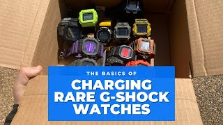 Charging Rare Solar G-shock Watches in the SUN