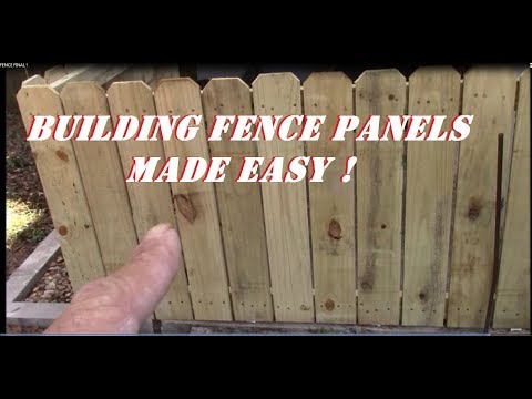 How To Build Fence Panels