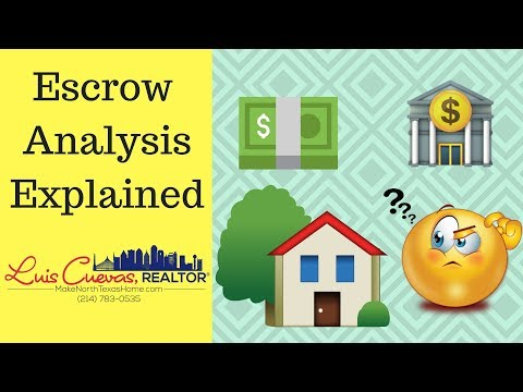 Escrow Analysis Explained | Luis Cuevas Realtor® | RE/MAX Cross Country