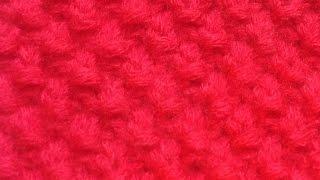 Вязание спицами. Узор букле #8