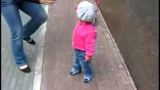 Dad Saves Baby At The Last Second