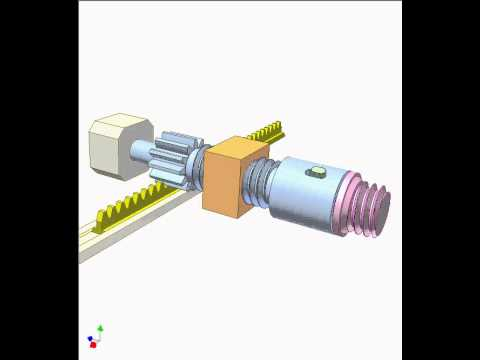 Mechanism for moving thread core of a plastic injection mould 1