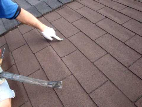 Roofing Leak Repair toronto roof repair - roof leak from shingles - youtube
