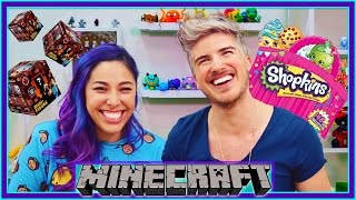 MINECRAFT & SHOPKINS UNBOXING CHALLENGE W/ IHASCUPQUAKE!