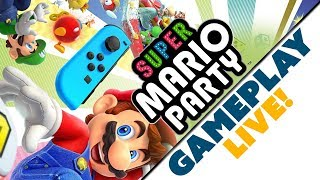 Super Mario Party Gets PHYSICAL!  LIVE GAMEPLAY & Commentary with Nintendo