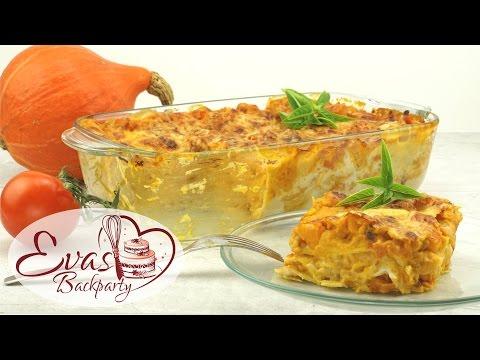 vegetarische Lasagne mit Hokkaido-Kürbis / würzig / Kürbis-Lasagne-Auflauf / Backen evasbackparty