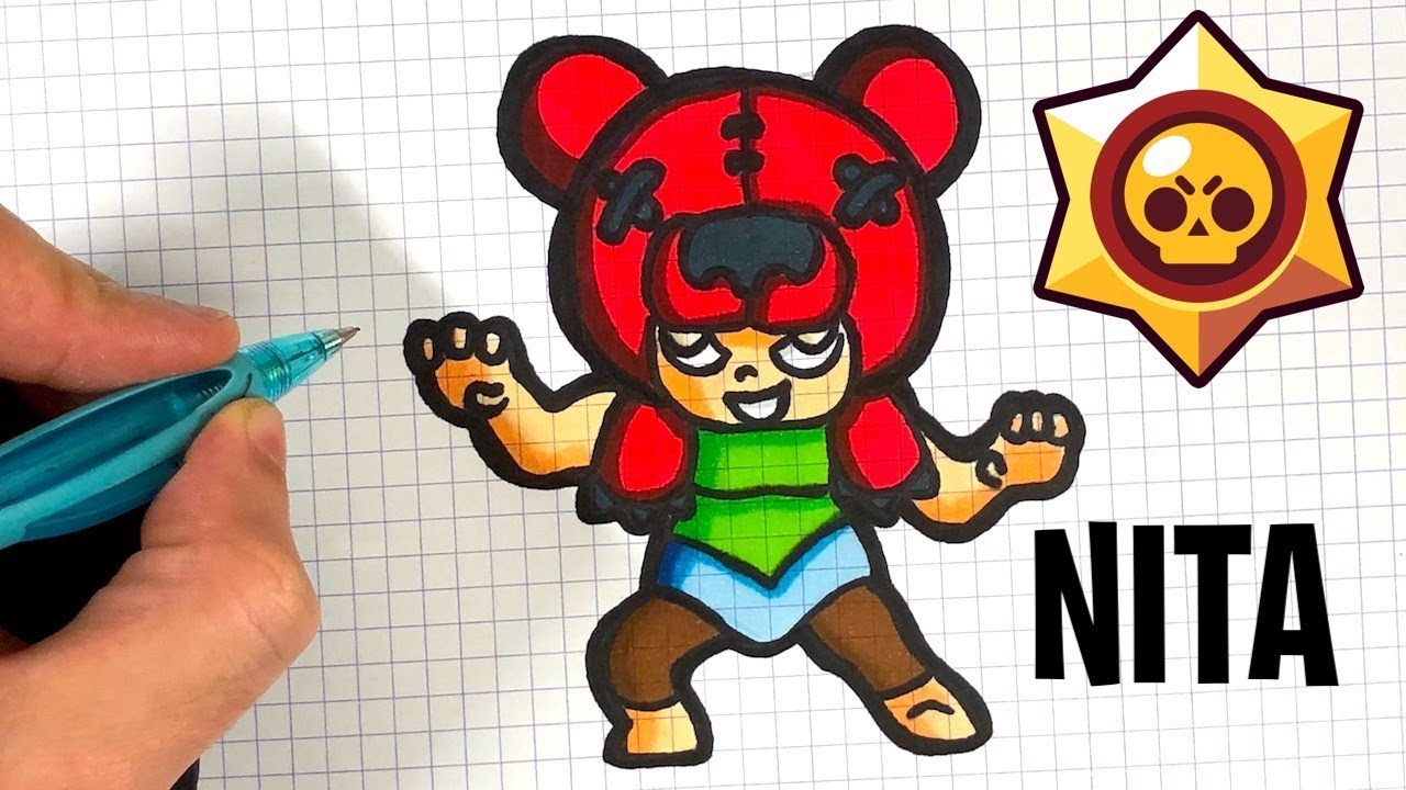 Tuto Comment Dessiner Nita Brawl Stars Youtube