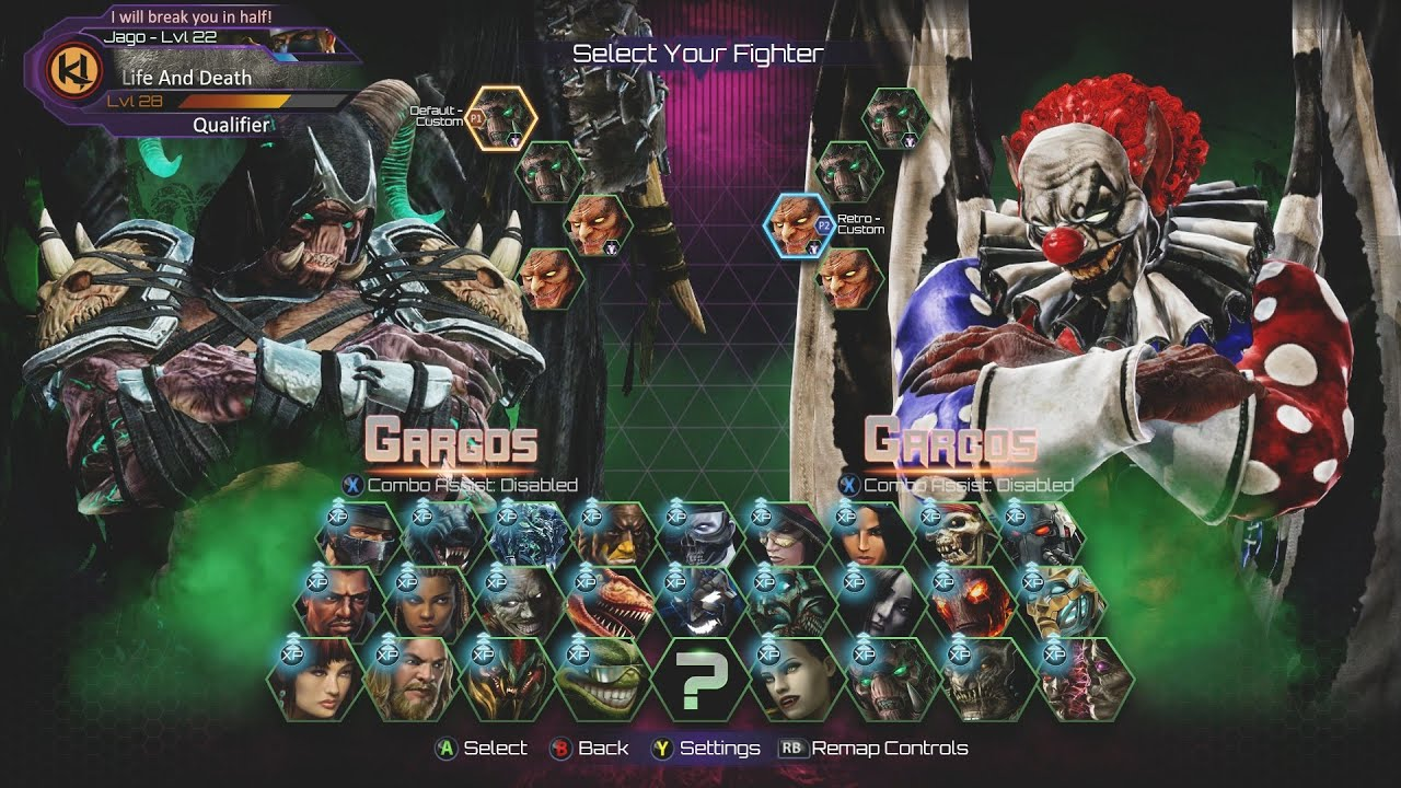Killer Instinct - Aria Announcer - All Character Select ...