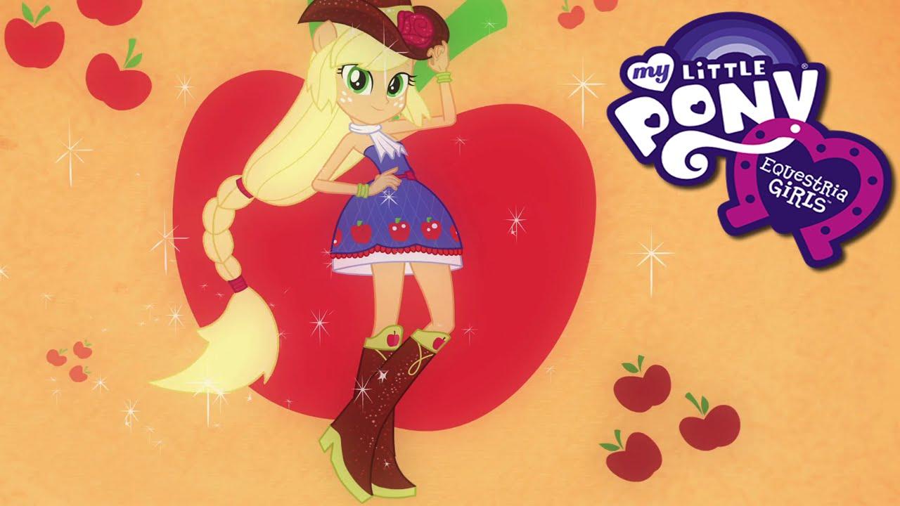 0bbd8f50e4e60 Equestria Girls Applejack Miss Honesty Dress Up Game - YouTube