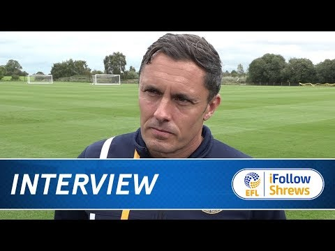 iNTERVIEW  Paul Hurst pre Wigan  Town TV