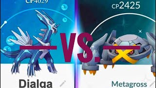 METEOR MASH IS OVER POWERED! METAGROSS VS. DIALGA - POKEMON GO