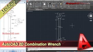 Design 2D Combination Wrench | Autocad Tutorial | Practice Exercise 29