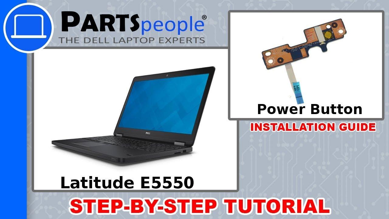 Dell Latitude E5550 Power Button Replacement Video Tutorial