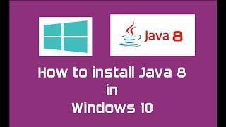 Java 8 (Oracle JDK 8) installation in Windows 10 | Java SE 8 Update 144