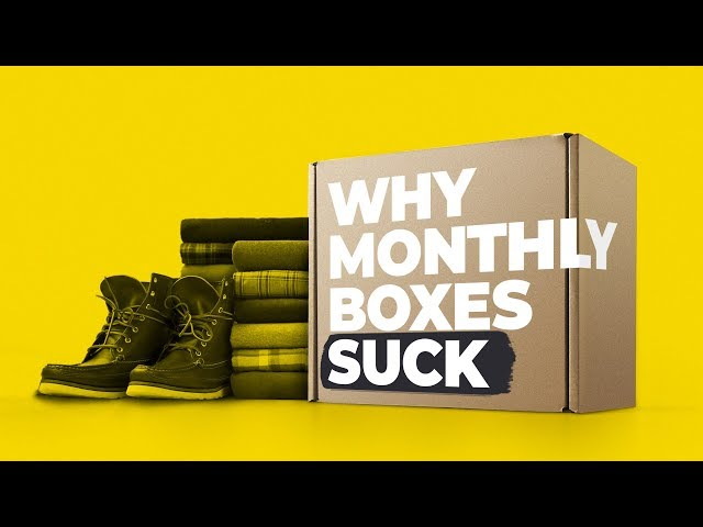 Why I HATE Monthly SUBSCRIPTION BOXES For Men (My Opinion)