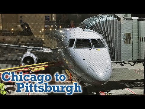 Full Flight: American Eagle E175 Chicago To Pittsburgh (ORD-PIT)