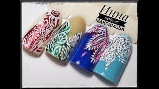 🌸 ТОНКИЕ линии 🌸 ФОЛЬГА на ногтях 🌸 Дизайн ногтей гель лаком 🌸