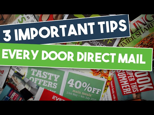 Marketing Tip - 3 Important Every Door Direct Mail Tips