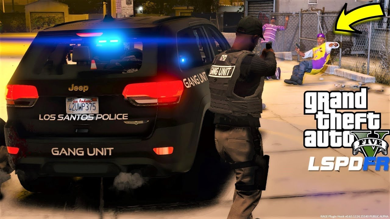Gta 5 Lspdfr 695 Gang Unit Patrol In New 2018 Jeep Grand Cherokee Trackhawk During A Snow Storm Youtube