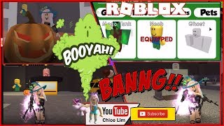 👻 Roblox Zombie Attack! HALLOWEEN🎃 Getting 100 Candies for a Limited Ghost Pet! VERY Loud Warning!