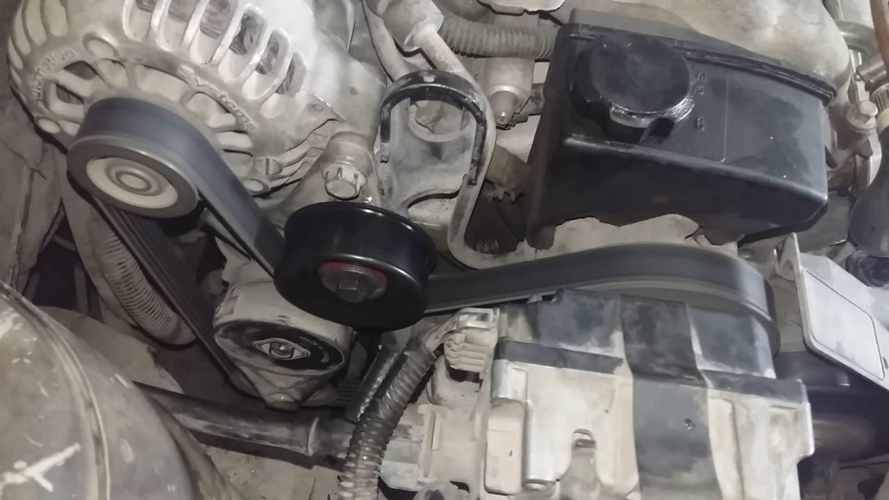 Malibu 2000 V6 motor 3.1 polea guía nueva y corrección de ...