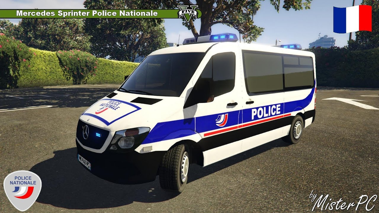 gta 5 v mercedes sprinter police nationale by misterpc youtube. Black Bedroom Furniture Sets. Home Design Ideas