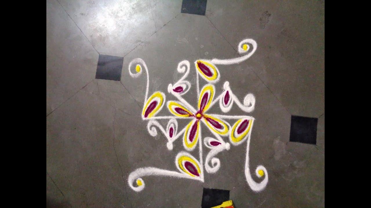 how to put rangoli designs